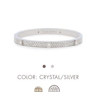 Miss Bendel Pave Bangle Silver bracelet